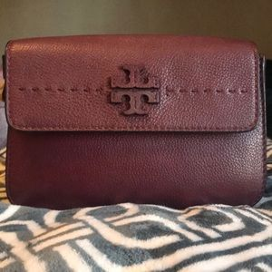 McGraw Leather Shoulder Bag TORY BURCH